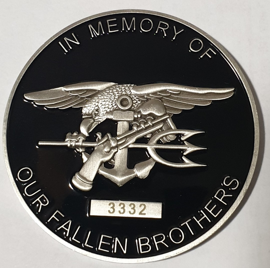 Authentic Rare Seal Delivery Vehicle Team One SDVT-1 Operation red wings memorial coin round numbered back