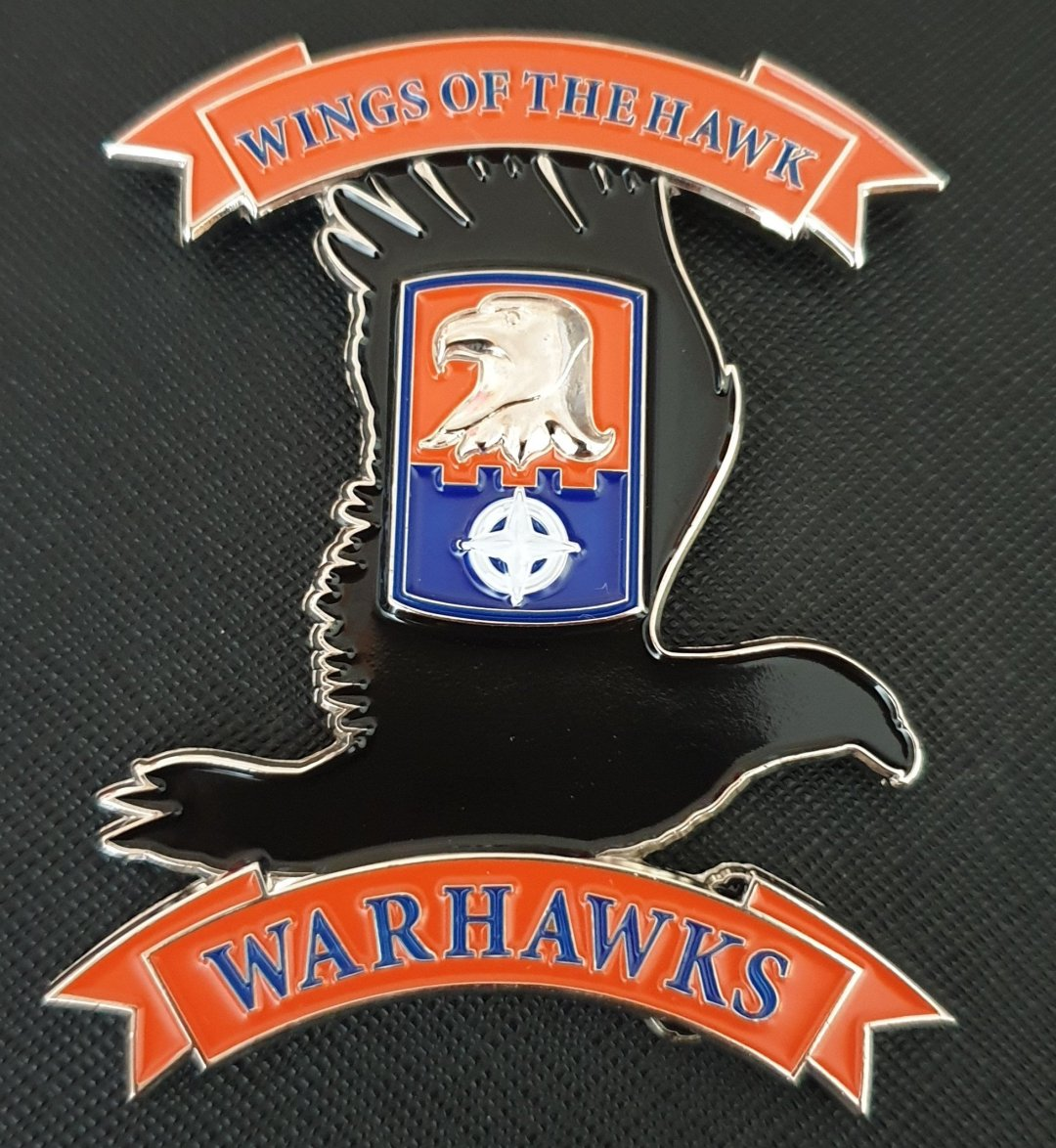 US Army TF WARHAWK 244th ECAB 244th Expeditionary Combat Aviation Brigade OIR 2019 Deployment Command Team Coin