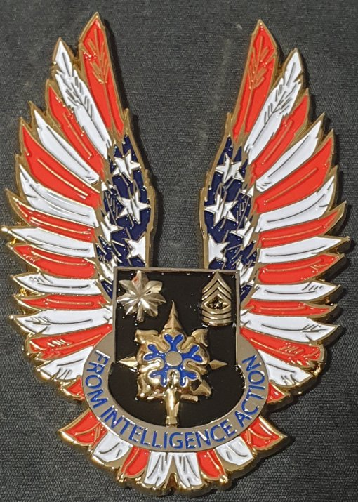 US Army 826th Military Intelligence Battalion 826th MI BN Eagle Shaped Command Team Coin by Phoenix Challenge Coins