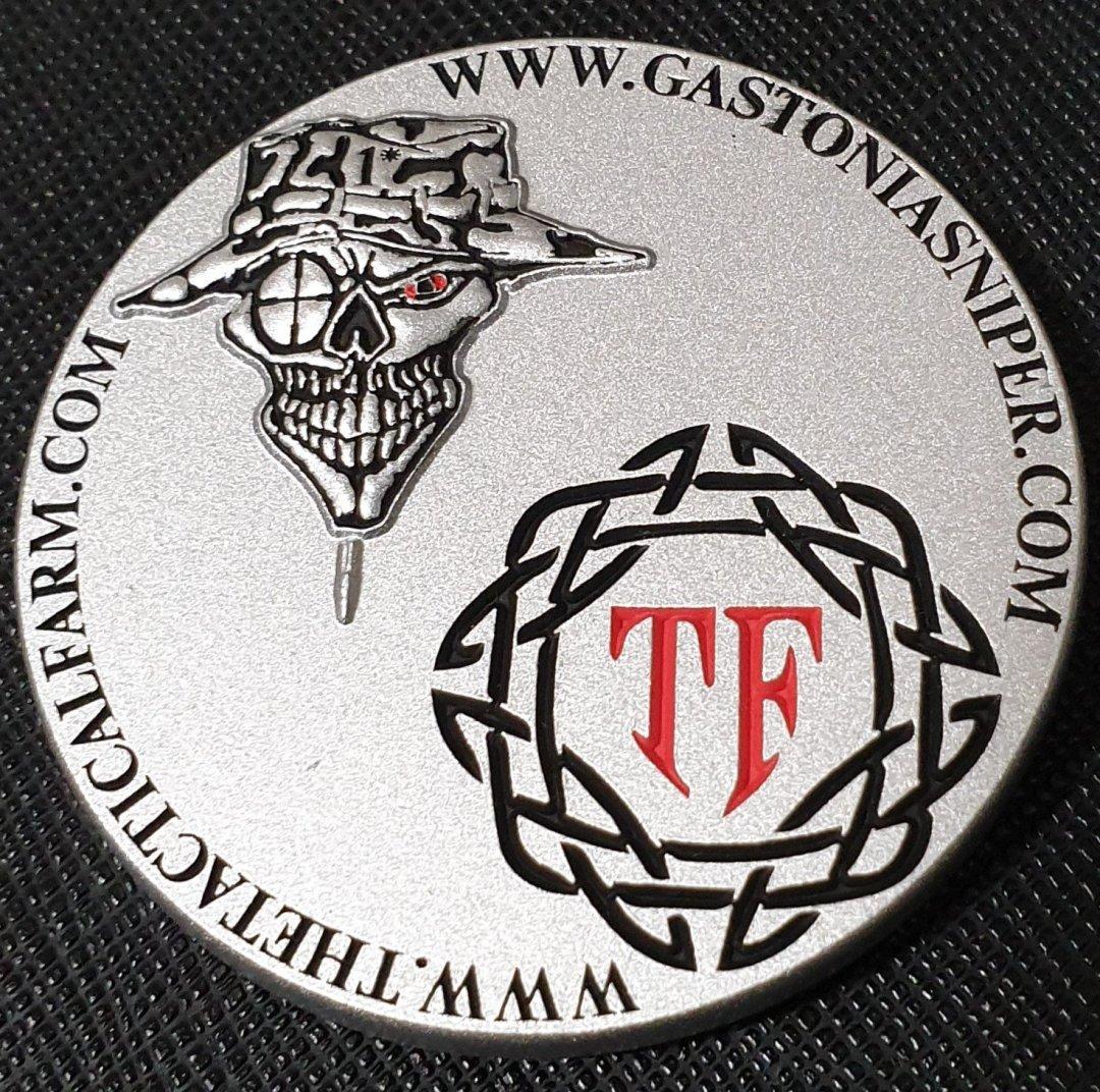 2019 Gastonia Sniper Conference Custom Challenge Coin back