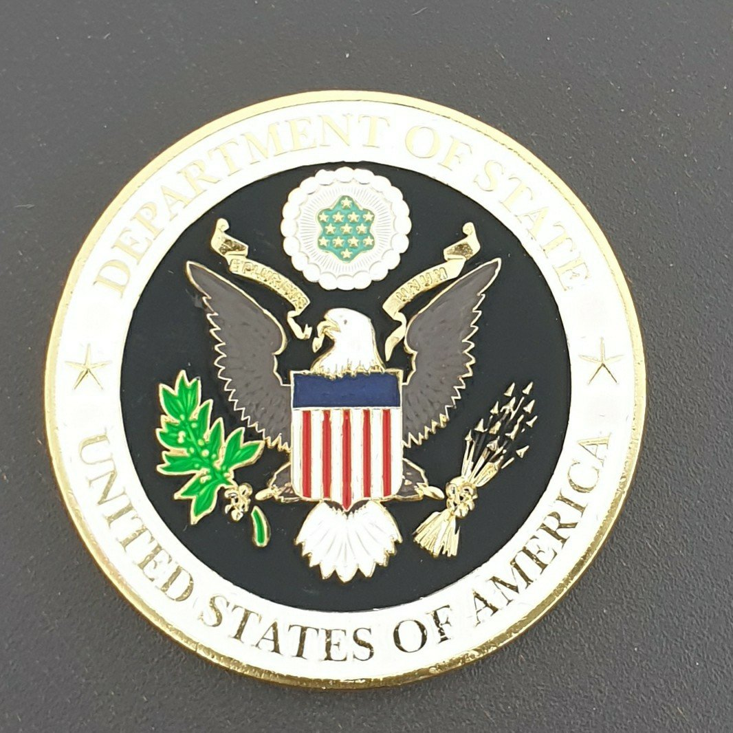 US Department of State US Embassy Portugal Azores 225th Anniversary Challenge Coin With Box frontside