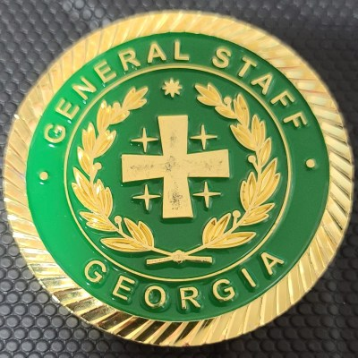Rare Georgian Military Chief of the General Staff MG Vakhtang Kapanadze Commander's Challenge Coin