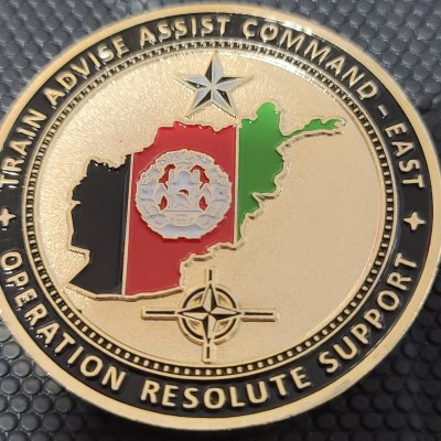 Joint Command Operation Resolute Support Afghanistan TAAC-East CG and CSM Challenge Coin