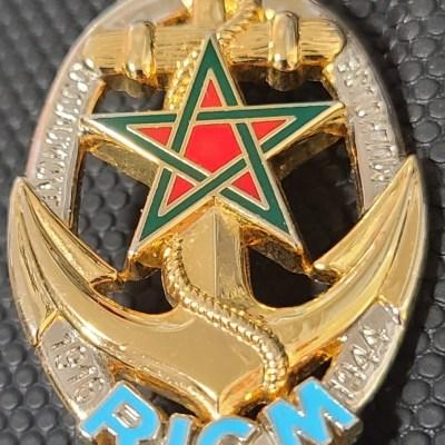 French Army Régiment d'infanterie-chars de marine RICM Challenge Coin front