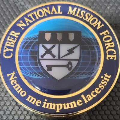 DOD USCYBERCOM's Cyber National Mission Force (CNMF) Challenge Coin