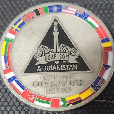NATO ISAF SOF CG Challenge Coin #81