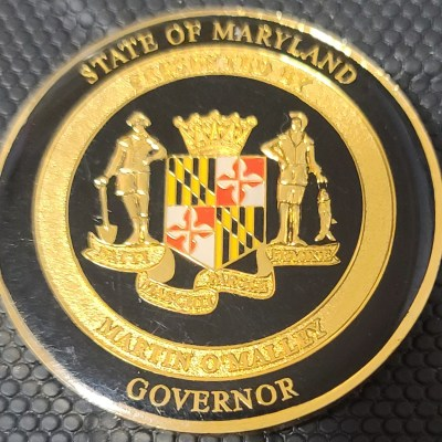 Maryland Governor Martin O'Malley Challenge Coin