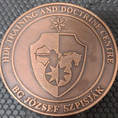 Rare Hungarian Defense Force HDF Training and Doctrine Center BG Jozsef Szpisjak CG Challenge Coin