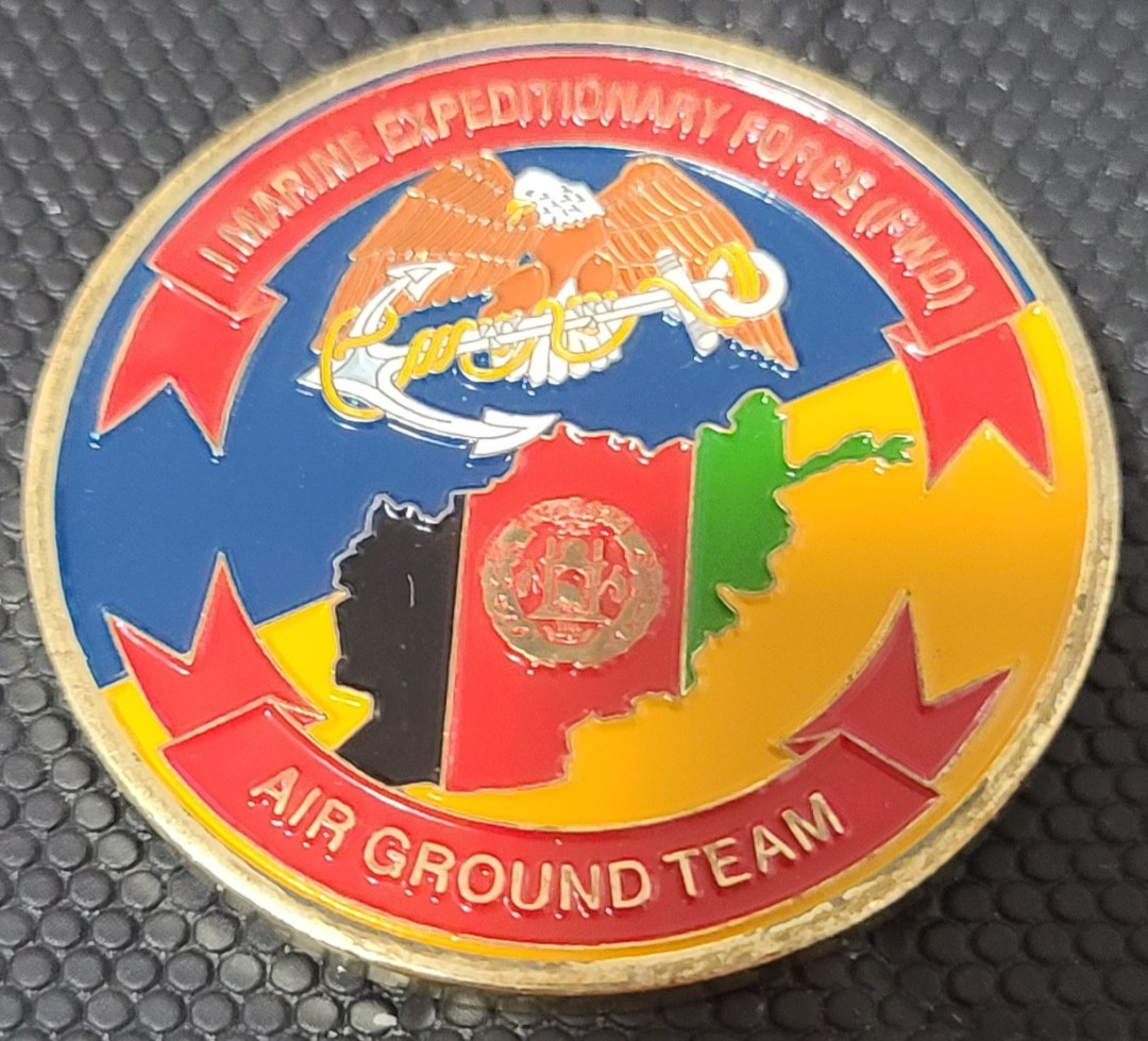 US Marine Corp Air and Ground Expeditionary Force Afghanistan MG Commanding General challenge coin
