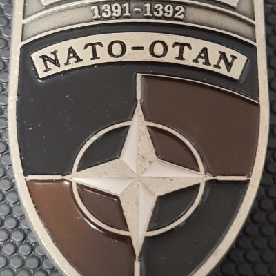 NATO OTAN IJC LEGAD Legal Command Patch shaped Challenge Coin