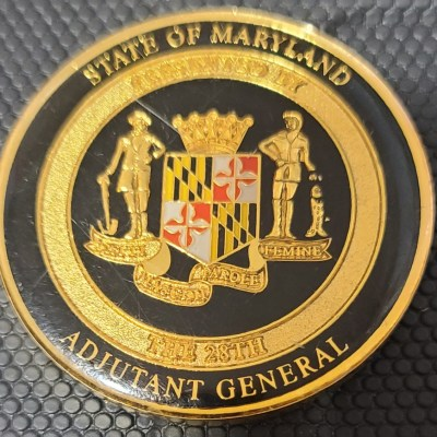 Maryland Adjutant General Challenge Coin