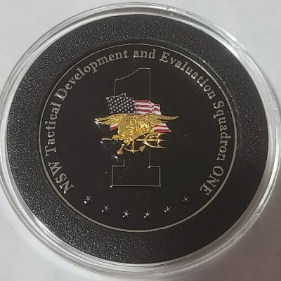Rare Current Version NSW Tactical Development and Evaluation Squadron One Challenge Coin