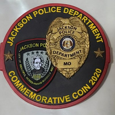Jackson Missouri Police Dept New HQ 2020 Commissioning Challenge Coin with Phoenix Challenge Coins Armor