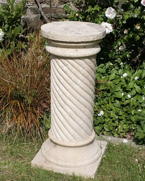 Travertine Spiral Column