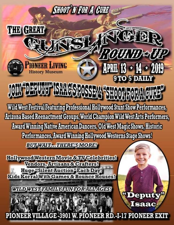 Image of flyer for the Pioneer History Museum Gunslinger Round-Up Special Event