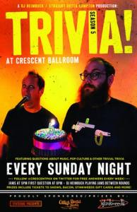 Image of poster advertising Sunday Trivia