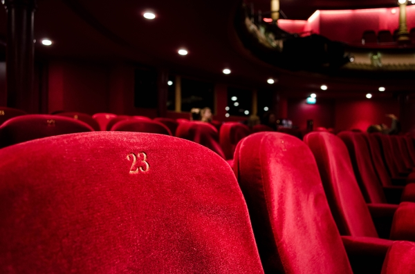 Photo image of red movie seats