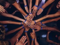 Image of many hands reaching in