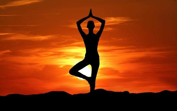 Yoga Silhouette Sunset Meditation Phoenix On The Cheap