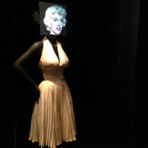 "The iconic dress Marilyn Monroe wore in the film, ""Seven Year Itch."""