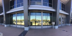 Commercial Window Tinting building
