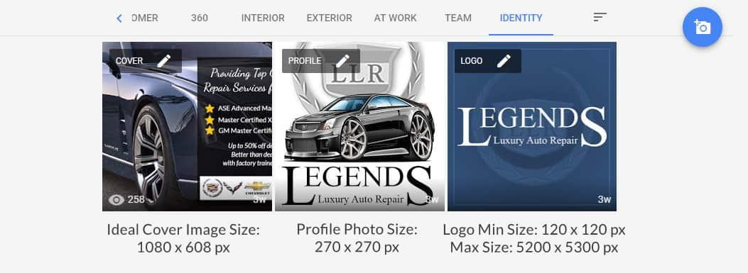 Google My Business Photo Sizes