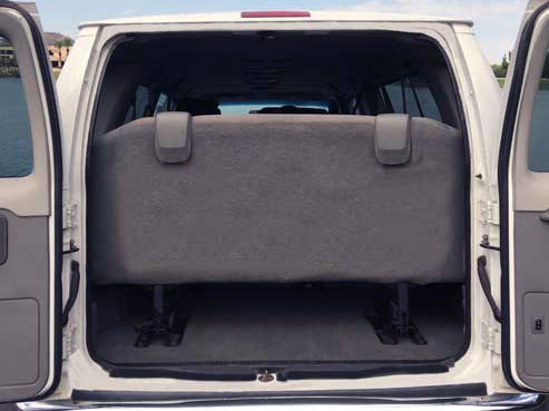Cargo Space large passenger van for rent