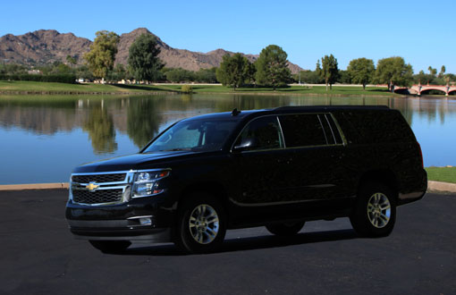 Suburban for rent from Phoenix Car Rental