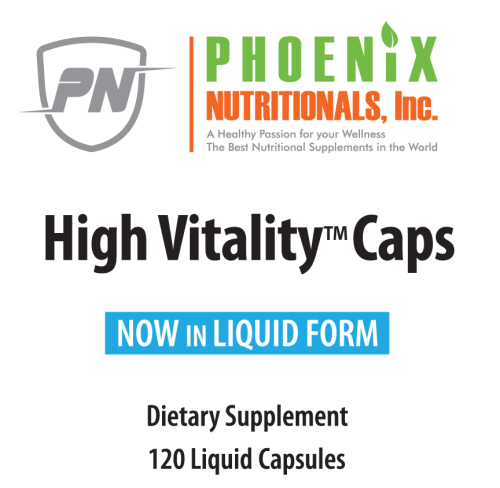 High Vitality Capsules Facts Box, High Vitality Capsules is Our Full Spectrum Concept in convenient capsule form, Providing High Energy, Antioxidants, 17 Vitamins, Minerals, Anti-aging - 100 + Nutrients in One Capsule.