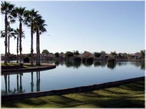 Crystal Gardens entrance lake