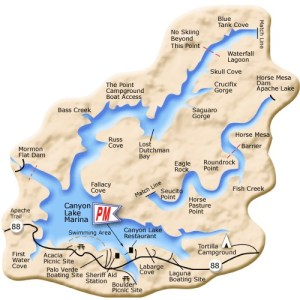 Canyon Lake Map