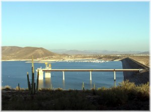 New Wadell Dam at Lake Pleasant