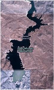 Bartlett Lake Reservoir Aerial View