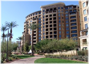 View from Trail of Scottsdale Waterfront Residences