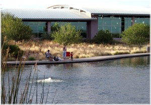 Gilbert Library on Lake