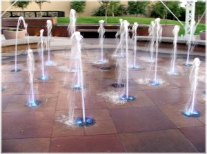 Water Tower Plaza Fountains