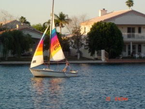 Sailing In Desert Harbor Lake