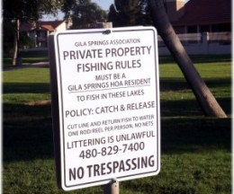Gila Springs Fishing Rules
