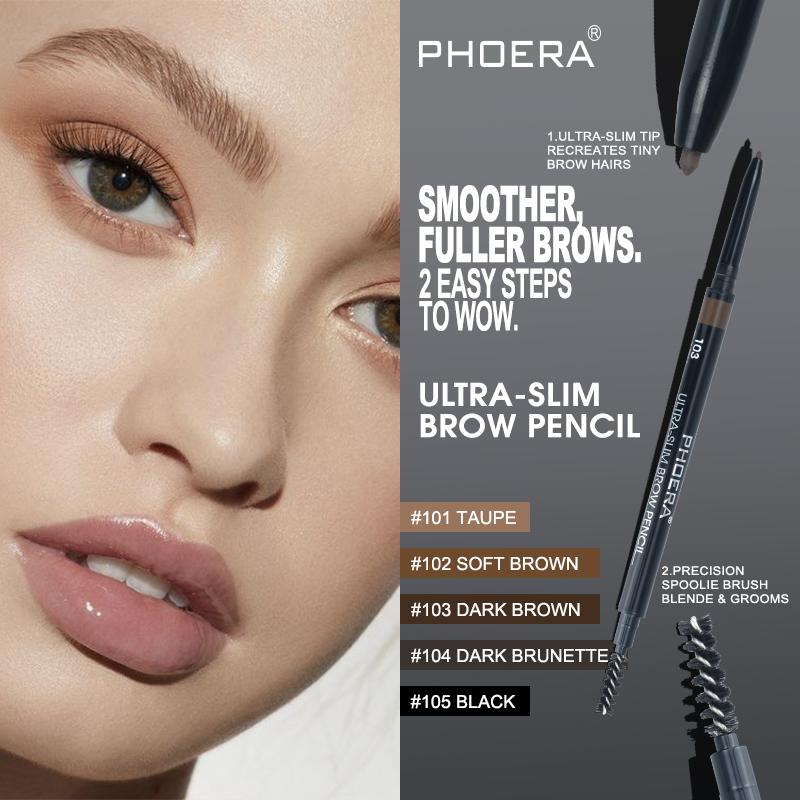 Ultra Slim Eyebrow Pencil Phoera Cosmetics