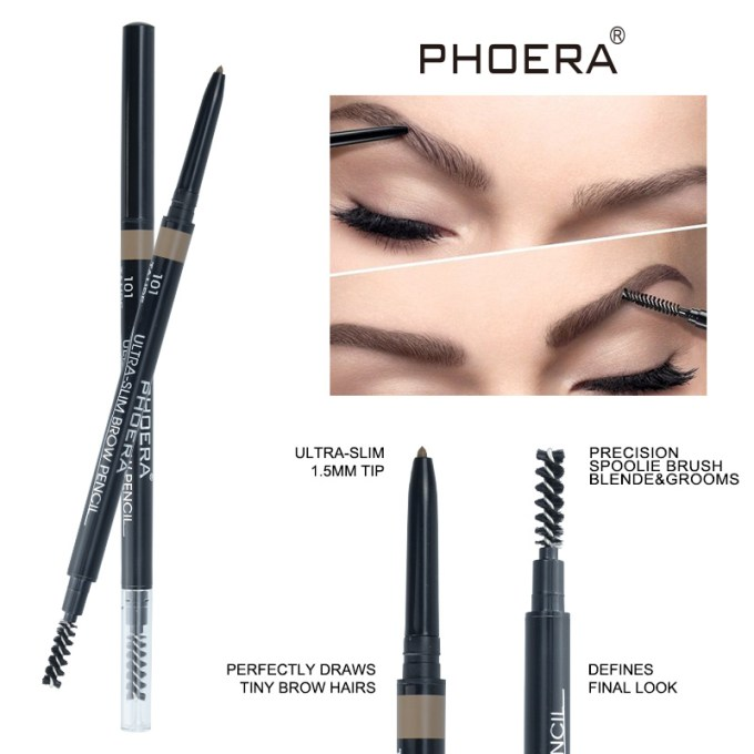 Ultra Slim Eyebrow Pencil Phoera Cosmetics