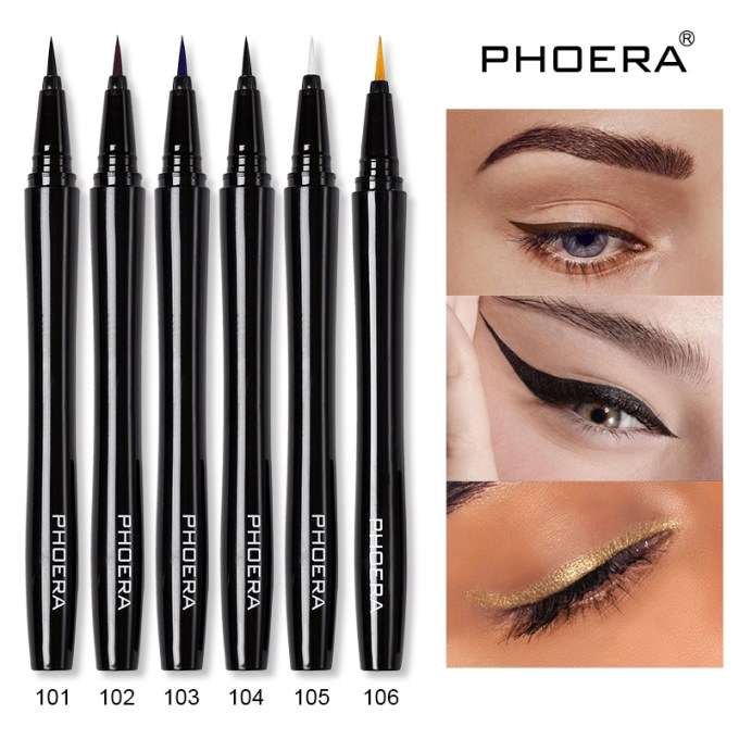 Precise Waterproof Liquid Eyeliner Pen Phoera Cosmetics