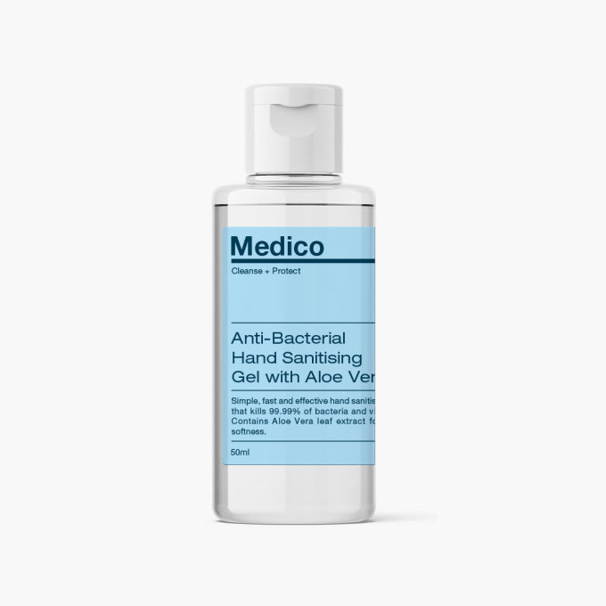 Medico™ Hand Sanitising Gel (50ml) Phoera Cosmetics