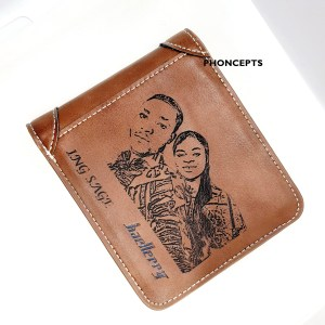 Men's Custom Engraved Photo Wallet