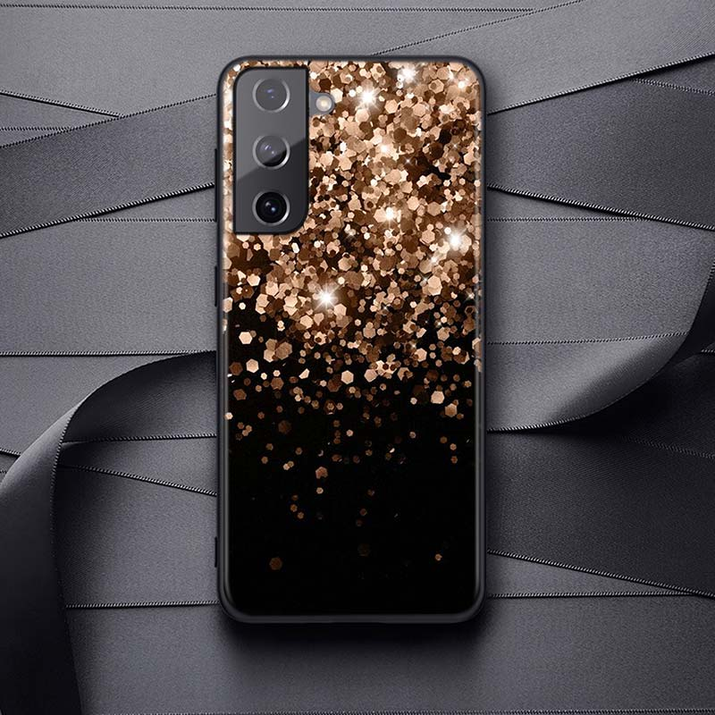 Love Rose Gold Style For Samsung Galaxy S21 S20 FE Ultra S10 S10E Lite 5G S9 S8 S7 S6 Edge Plus Phone Case
