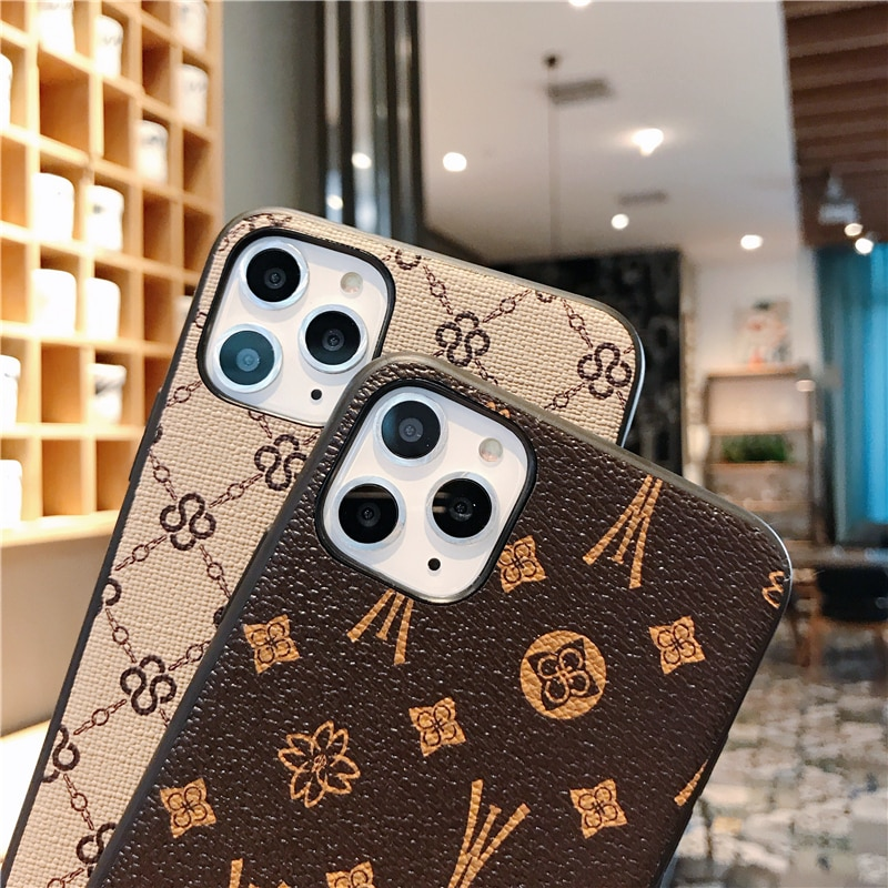 Luxury Brand Fashion Glitter Cute Phone Case Cortex LOGO For iPhone 6 6S 7 8 Plus X XR XS Max 11 12 Pro Max For iPhone SE2 2020