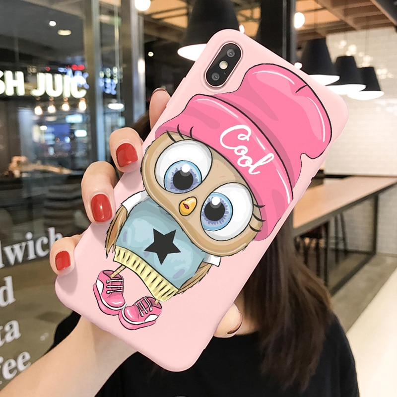 Cute Owl TPU Coque For iPhone 12 11 Pro Max 8 7 6s Plus XR Xs SE 2020 X 12 Mini Xs Max Lovely Animal Puppy Soft Phone Case Funda