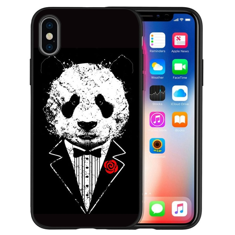 Shirt and tie man Soft Silicone black Phone Case For iPhone 5 5S 6 plus 7 8 plus X XR XS Max 11 PRO Max SE 2020