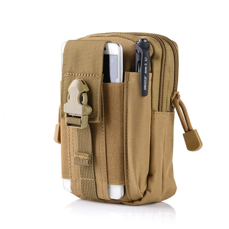 Mobile Phone Case Military Molle Pouch Waist Bag Camo Waterproof Nylon Multifunction Casual Men Fanny Waist Pack Male Small Bag