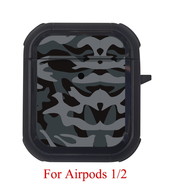 Cover For Airpods Pro Case TPU Pattern Anti-fall Cover For Apple AirPods 3 2 Case Accessories Wireless Earphone With Keychain