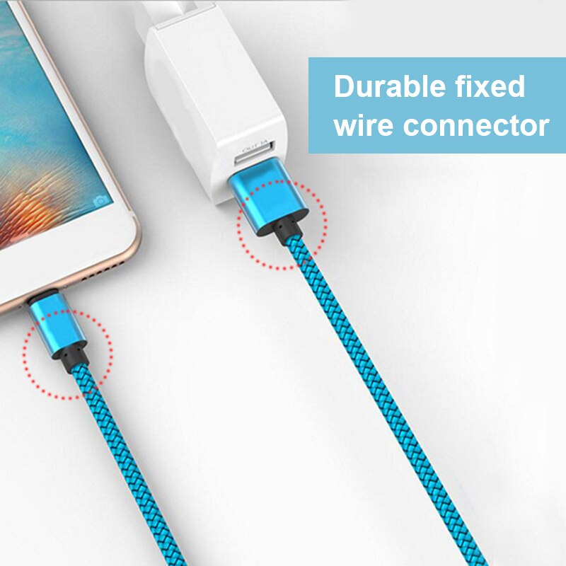 Nylon USB Fast Charging Cable For Apple iPhone XR XS MAX X 8 7 6S 5S 5 6 Plus ipad mini Phone Lighting Charge Data Cables